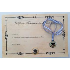 Combo Diploma+medalla Y Cinta Egresados Primaria/secundaria