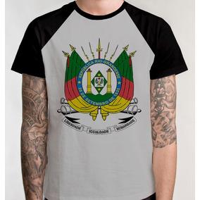 Camiseta Raglan Brasão Rio Grande Sul Camisa Blusa Unissex