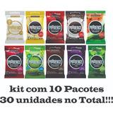 Kit Preservativo Camisinha Prudence 10 Pac. Sabores 30 Unid