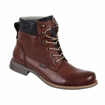 Bota Discovery Ds1971 Color Cognac. Mujer