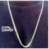 Cordão Corrente Italiana Grumet Prata 925 Frete-grátis 70 Cm