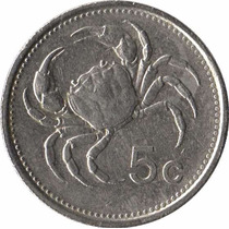 Moedas De Malta 5 Cents Carangueijo Datas Variadas