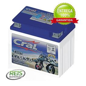 Bateria Cg Titan 150 Clm5d Cral Moto 5ah ( Yuasa Ytx5l-bs )