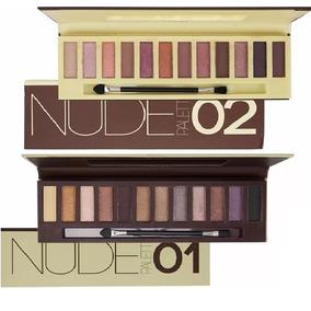 Kit Paleta Nude 01+02 Vivai 24 Cores Sombras 2 Estojos Naked