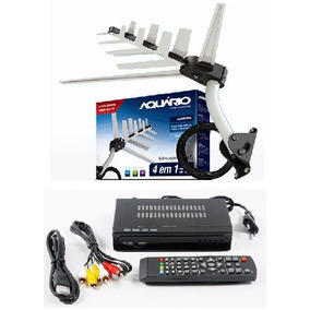 Kit Conversor Digital Hd+ Antena + Suporte + 16m Cabo