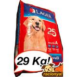 Comida Para Perro Lager Aniversario 25+4kg++envios