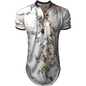 Camiseta Longline Masculina Gola Polo Esporte Queimadura