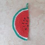 Agarradera Sandia Crochet :: Peanutarg