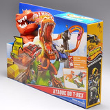 Pista Playset Hot Wheels Ataque Do T-rex Mattel