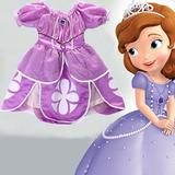 Vestido Fantasia Roupa Infantil Princesa Sofia