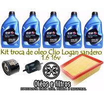 Kit Troca De Oleo Renault Clio/ Logan/ Sandero 1.6 16v 10w40