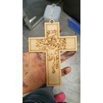 Cruz Jesús 10cm Mdf 3mm Recuerdos Bautizo 1ra Comunión