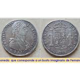 Imperio Espanol Peso 8 Reales 1810 Santiago Rara Plata Chile