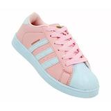 Novo Tenis adidas Super Star Pink Cabeção Feminino Rosa