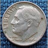 Moneda One 1 Dime 1964 10 Centavos Plata