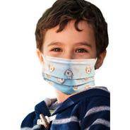 Cubrebocas Infantil Para Niño Y Niña Tricapa Certificado
