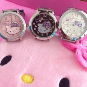Reloj Para Dama De Hello Kitty Acero #8