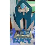Castillo Frozen Con Luz Cumpleaños, Para Candy Bar O Torta