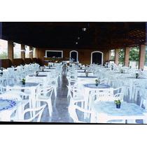 Lote 10 Mesa Com 40 Cadeiras Brancas Plástico Empilháveis