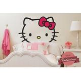 Adesivo Papel Parede Cabeceira Infantil Hello Kitty Exclusiv