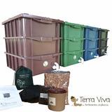 Composteira Doméstica / Minhocário Completa 15l Frete Grátis