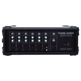 Cabeçote Mesa Amplificada Potência 6 Canais Mark Audio 175w