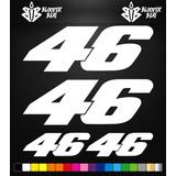Sticker Tunning Automovil 46 Auto De Carreras Calcomanía