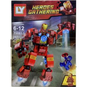 Bloco De Montar Hulkbuster Homem De Ferro X Capitão America