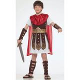 Fantasia De Gladiador Infantil C/ Armadura A Pronta Entrega