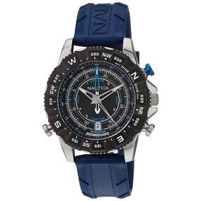 Reloj Nautica Nai20005g Caucho, Cuarzo Hombre -azul