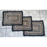 Jogo Com 3 Tapetes De Crochê P/ Cozinha, Banheiro, Sala