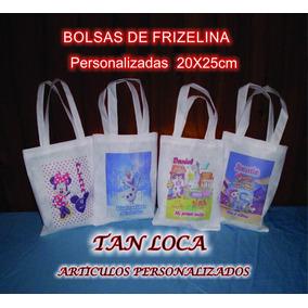 Bolsas De Frizelina Personalizadas Medida 20x25 X5 Unidades