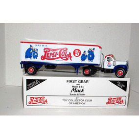 1960 Mack B 61 Pepsi Cola Tractor & Trailer 1/34 First Gear