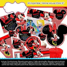 Kit Imprimible Minnie Mimi Roja Fiesta Bolo Piñata