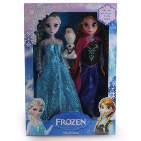 Frozen Disney Musical Bonecas Elsa E Anna Kit + Brinde Olaf