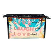 Necessaire Live, Laugh And Love Preto