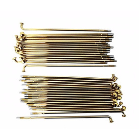 Raios Roda Moto Cg/titan/150/fan Reforçado 4mm Dourado