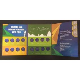 Álbum Vazio Moedas Comemorativas Olimpiadas Rio Sem Bandeira