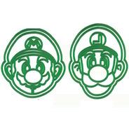 Set Combo Cortantes Galletitas Mario Y Luigi X2 Unidades