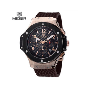 Reloj Megir 3002g Casual-militar-deportivo Cronografo Fecha