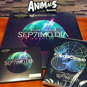Combo Soda Stereo Septimo Dia 2 Vinilos Lp + Cd + Dvd Nuevos