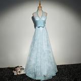 Vestido Fiesta Largo Azul Vintage Envio Gratis ! E-37815960