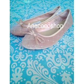 Flats Terciopelo Rose Rosa Velvet Tallas 37 40