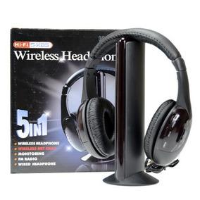 Audifonos Inalambricos Wireless 5 En 1 Radio Tv Pc Ipod Mp3