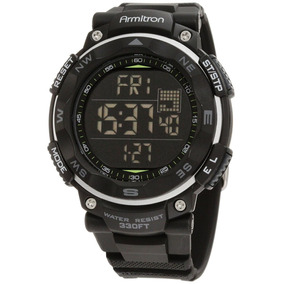 Armitron Pro Sport 408254blk Alarma Luz Cronómetro