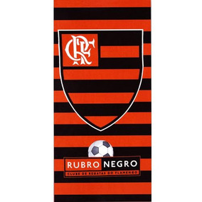 Toalha De Futebol Do Flamengo Aveludada Dohler 76 X 1.52mts