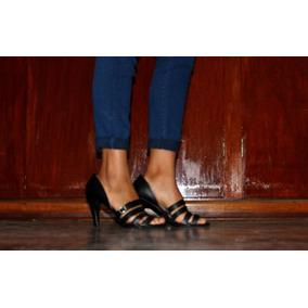 Zapatos Milano Bag Talla 39 Taco 7 100% Cuero Estado 10/10