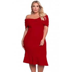 Vestido De Fiesta Rojo Extra Grande Ropa Mujer Envío Gratis