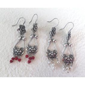 e6f8d4756172 Aretes Florinda Con Perlas O Corales En Plata De Ley .925