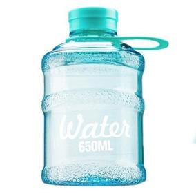 Botella Deportiva Con Asa Para Agua Water 650 Ml Azul D1104